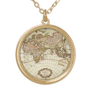 Antike Weltkarte, C. 1680. Durch Frederick de Wit Halskette Mit Rundem Anhänger