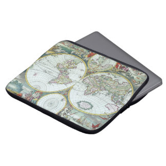 Antike Weltkarte des 17. Jahrhunderts, Frederick Laptop Sleeve