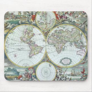 Antike Weltkarte des 17. Jahrhunderts, Frederick Mousepad