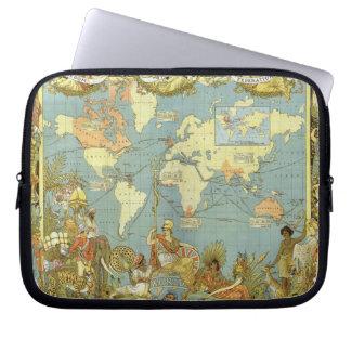 Antike Weltkarte des Britischen Imperiums, 1886 Laptopschutzhülle