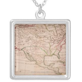 Antike Weltkarte Personalisierte Halskette