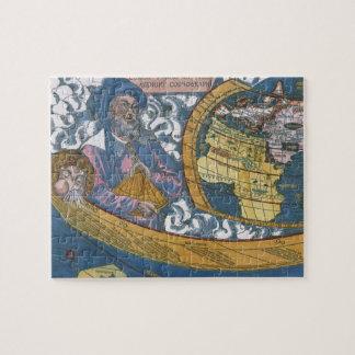Antike Weltkarte mit Claudius Ptolemäus, 1507 Puzzle