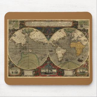 Antike Weltkarte Mauspads