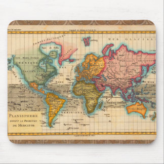 Antike Weltkarte Mousepad