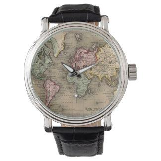 antike Weltkarteuhr Uhr