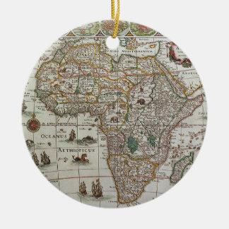 Antike Welts-Karte von Afrika, C. 1635 Keramik Ornament