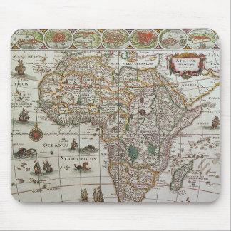 Antike Welts-Karte von Afrika, C. 1635 Mousepad