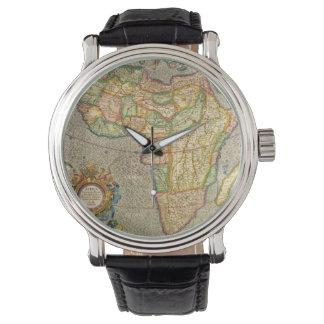 Antike Welts-Mercator-Karte von Afrika, 1633 Armbanduhr