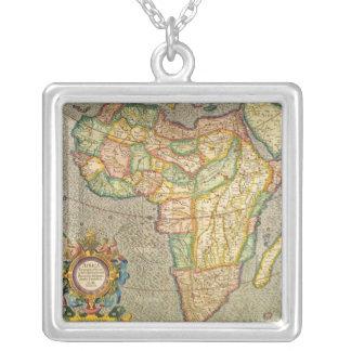 Antike Welts-Mercator-Karte von Afrika, 1633 Halskette Mit Quadratischem Anhänger