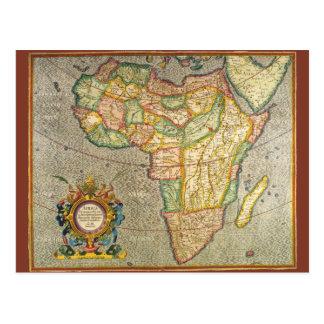 Antike Welts-Mercator-Karte von Afrika, 1633 Postkarte