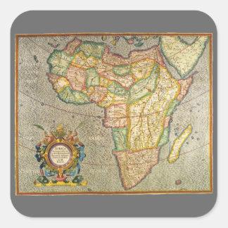 Antike Welts-Mercator-Karte von Afrika, 1633 Quadratischer Aufkleber