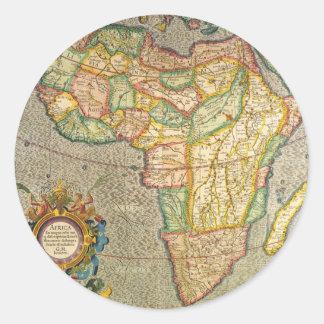 Antike Welts-Mercator-Karte von Afrika, 1633 Runder Aufkleber