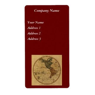 Antike Western-Hemisphäre-Karte 1786 Williams