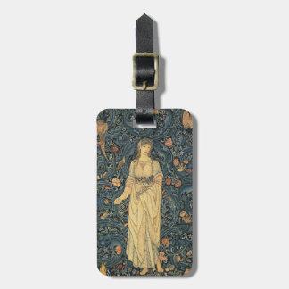 Antike William Morris-Flora-Gewohnheit Gepäckanhänger