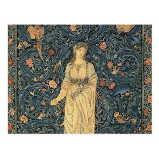 Antike William Morris-Flora Postkarte