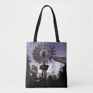 Antike Windmühlen-rustikale Szenen-Taschen Tasche