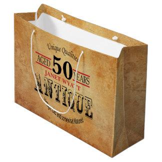 Antiken-50. Geburtstag Große Geschenktüte