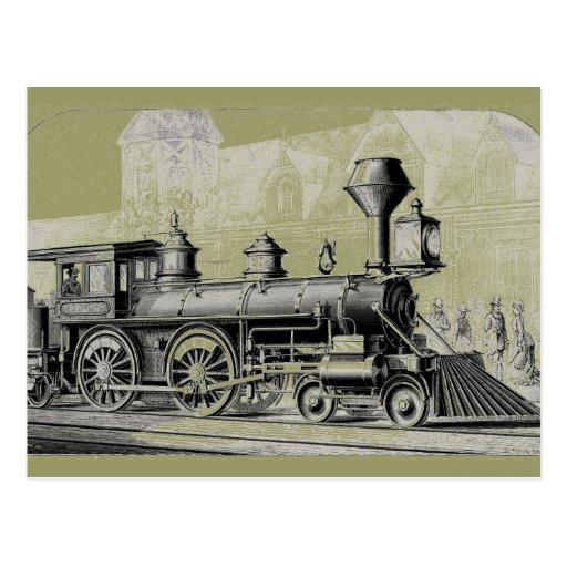 Antiker amerikanischer sich fortbewegender Dampf-M Postkarten