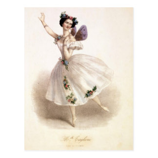 Antiker Ballett-Ballerina-Druck Marie Taglioni Postkarten
