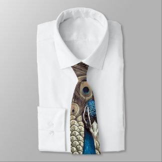 Antiker blauer Pfau Individuelle Krawatte