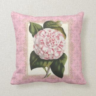 Antiker botanischer Druck Vans Houtte Camellia Kissen