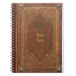Antiker Buchblick Spiral Notizbücher