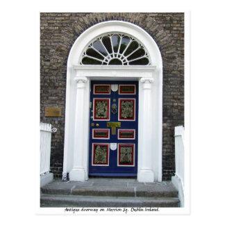 Antiker Dublin-Eingang, Merrion Quadrat Postkarte