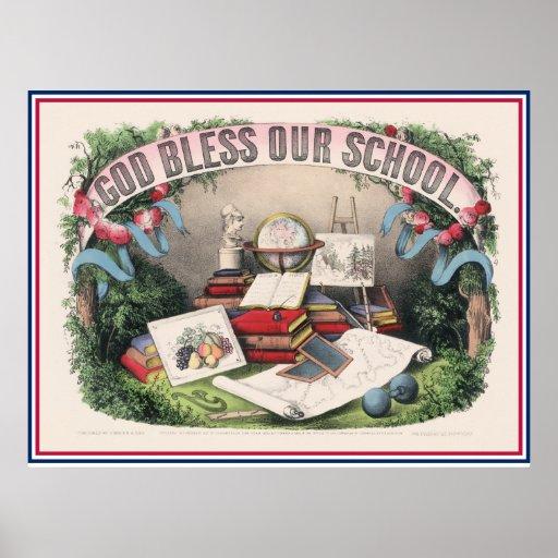 Antiker Gott segnen unsere Schule Posterdrucke