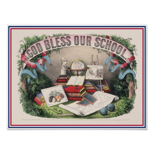 Antiker Gott segnen unsere Schule Plakatdruck