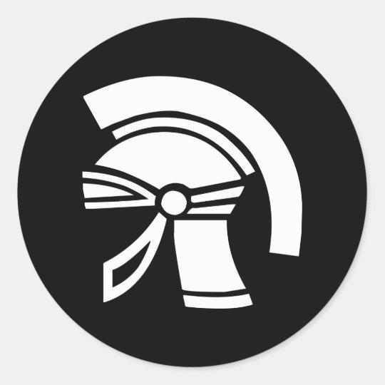 antiker Helm ancient world helmet Runder Aufkleber