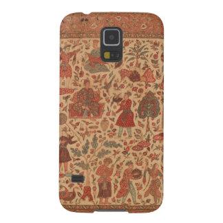 Antiker Indien-Textiltelefon-Kasten Galaxy S5 Cover