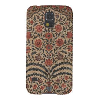 Antiker Indienblumentextiltelefon-Kasten Samsung S5 Cover