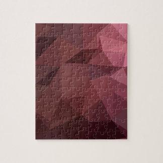Antiker karminroter abstrakter niedriger puzzle