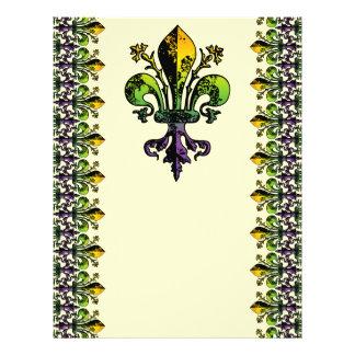 Antiker Karneval Fleur 21,6 X 27,9 Cm Flyer