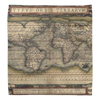 Antiker KarteBandana mit lateinischer Aufschrift Kopftuch