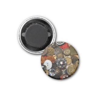 Antiker Knopf-Collagen-Magnet (rund) Runder Magnet 3,2 Cm