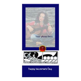 ANTIKER LIEBE-RUBIN, blau Fotokarten