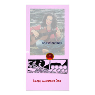 ANTIKER LIEBE-RUBIN, rosa Personalisierte Foto Karte