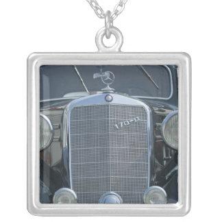 antiker Mercedes 2 Halskette Mit Quadratischem Anhänger