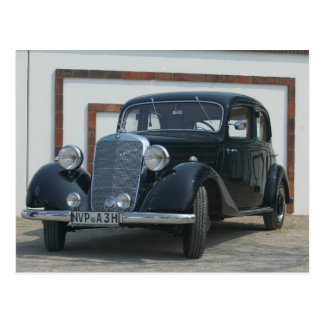 antiker Mercedes 3 Postkarte