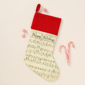 Antiker Notenen-Antiken-Weihnachtsfeiertag Weihnachtsstrumpf