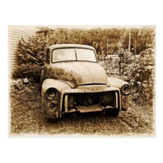 Antiker Projekt-LKW-alte Foto-Art Postkarte