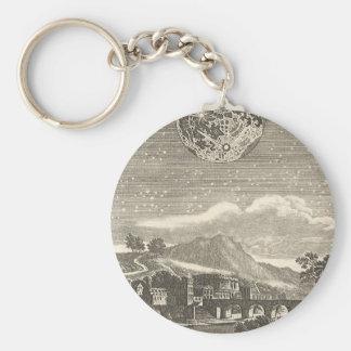Antiker Renaissance-Mond durch Allain Holzhammer Schlüsselanhänger