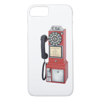 Antiker roter Münztelefon iPhone 7 Kasten iPhone 8/7 Hülle