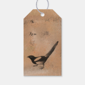 Antiker rustikaler Vogel Geschenkanhänger