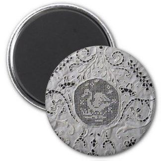 Antiker Spitze-Schwan Runder Magnet 5,1 Cm