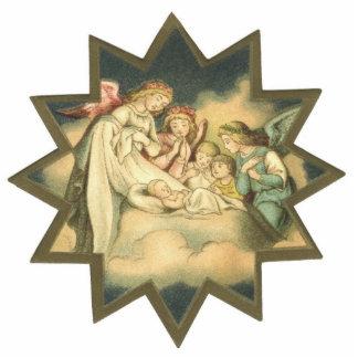 Antiker Stern/Engels-Verzierung Fotoskulptur Ornament