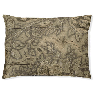 Antiker Textildruckblock Haustierbett