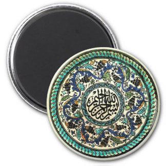 Antiker Türkischeentwurfsmagnet Runder Magnet 5,7 Cm