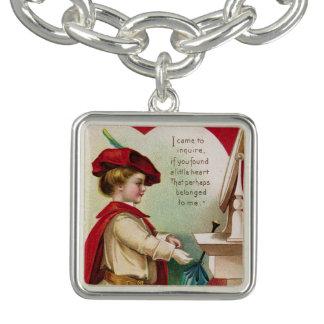"""Antiker Valentine """"zur einer i-Liebe """" Charm Armband"""
